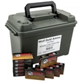 WOLF AMMO CAN 223 REM 55GR FMJ BRASS CASED 1000/CAN 250002608